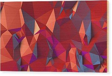 Crystal Volcanic Wood Print