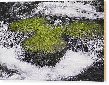 Crystal Water  Wood Print by Sotiris Filippou