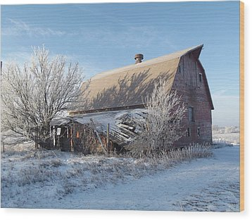 Crystaline Barn Wood Print by Bonfire Photography