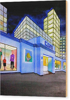 Wood Print featuring the painting Csm Mall by Cyril Maza