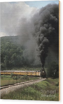 Chessie Steam Special At Lineboro Md Wood Print by ELDavis Photography