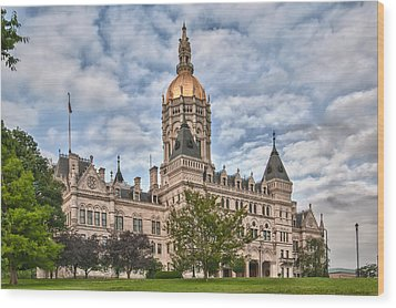 Ct State Capitol Building Wood Print by Guy Whiteley