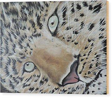 cub Wood Print by Dianna Lewis