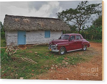 Wood Print featuring the photograph Cuba Cars 3 by Juergen Klust