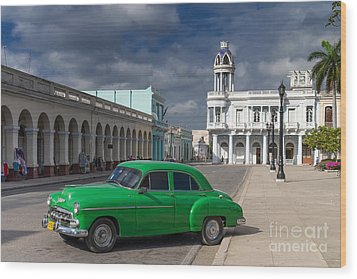 Wood Print featuring the photograph Cuba Green  by Juergen Klust