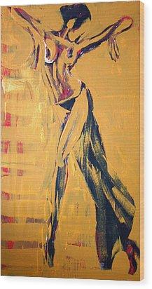 Wood Print featuring the painting Cuba Rhythm by Jarmo Korhonen aka Jarko