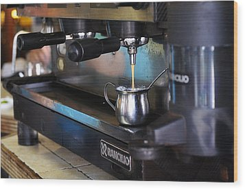 Cuban Coffee Wood Print by Andres LaBrada