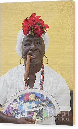 Cuban Lady Two Wood Print