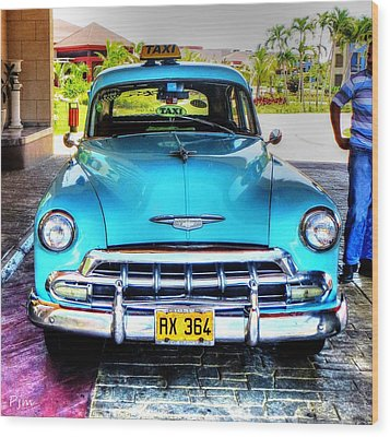 Wood Print featuring the photograph Cuban Taxi			 by Pennie  McCracken