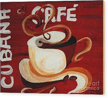 Cubana Cafe Wood Print by Jayne Kerr