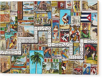 Wood Print featuring the painting Cubana by Joseph Sonday