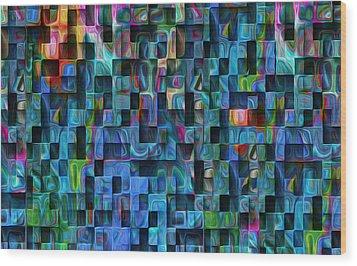 Cubed 3 Wood Print by Jack Zulli