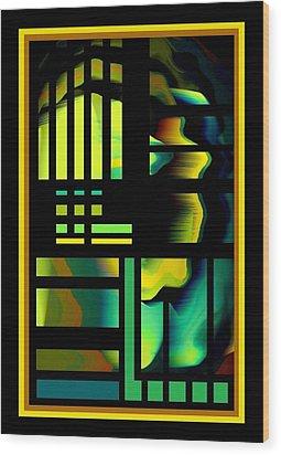 Cubes Wood Print by Steve Godleski