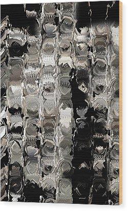 Cubes Unraveled  Wood Print by Jack Zulli