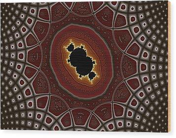 Cubic In Deformed Grid Wood Print by Mark Eggleston