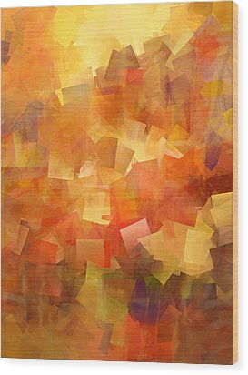 Cubic Lightbreak Wood Print by Ann Croon