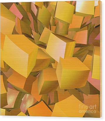 Cubist Melon Burst By Jammer Wood Print by First Star Art