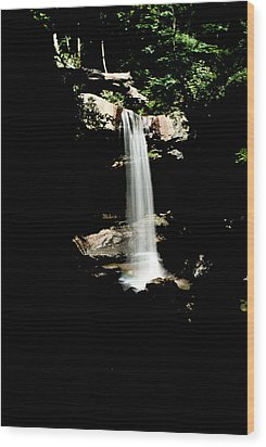 Wood Print featuring the photograph Cucumber Falls Wat 208 by G L Sarti