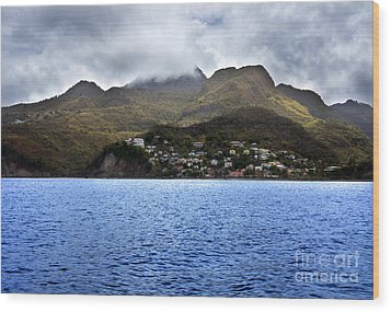 Wood Print featuring the photograph Cuddled  Fishing Village by Rafael Quirindongo