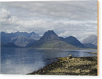 Wood Print featuring the photograph Cuillin Hills From Elgol Isle Of Skye by Sally Ross