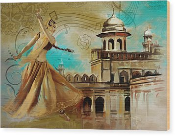 Cultural Dancer Wood Print by Catf