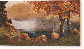 Cumberland Falls Wood Print by Duane R Probus