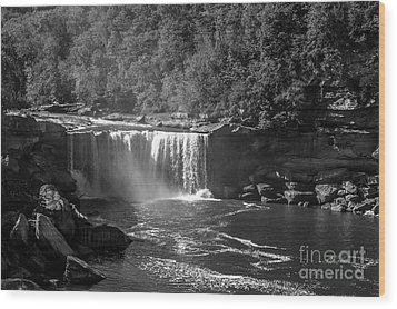 Cumberland Falls Five Bw Wood Print