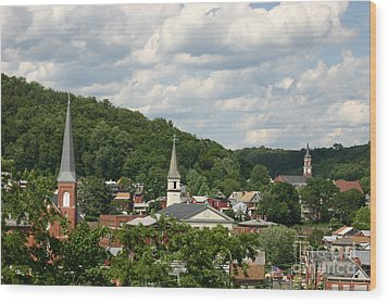 Cumberland Steeples Wood Print by Jeannette Hunt