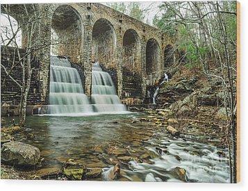 Cumberland Waterfall Wood Print by Debbie Green