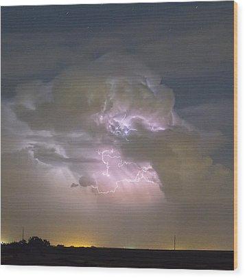 Cumulonimbus Cloud Explosion Portrait Wood Print by James BO  Insogna