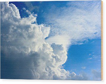 Cumulus Cloud Wood Print
