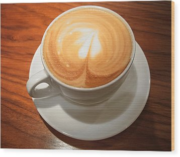Cup Of Coffee Wood Print by Matthias Hauser