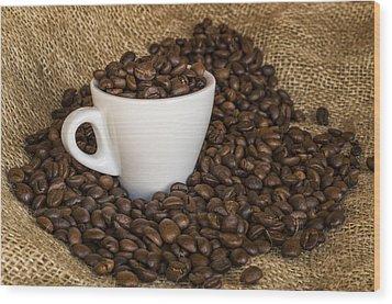 Cup Of Coffee Wood Print