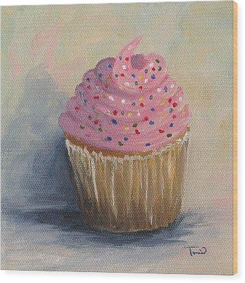 Cupcake 004 Wood Print by Torrie Smiley