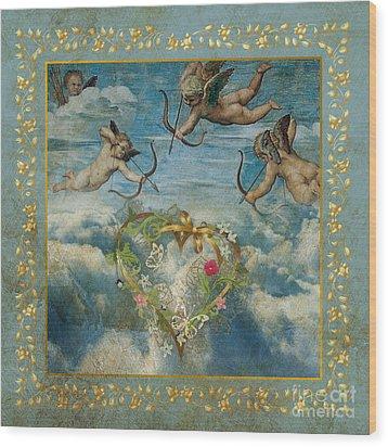 Cupid Wood Print by Jolanta Meskauskiene