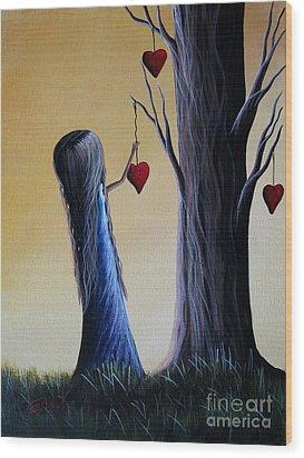 Cupid's Tree By Shawna Erback Wood Print by Shawna Erback