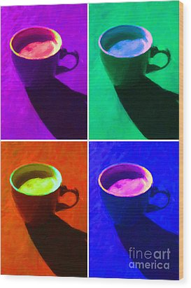 Cuppa Joe - Four Wood Print by Wingsdomain Art and Photography