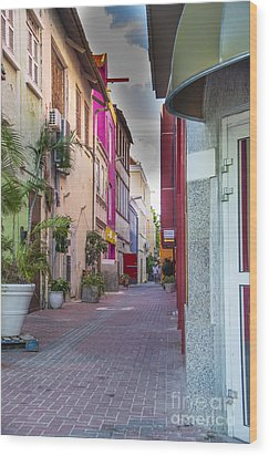 Curacao Alley Wood Print