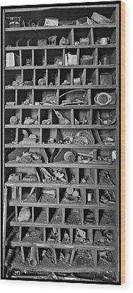 Curiosity Wood Print by Debra and Dave Vanderlaan