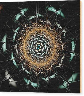 Curious Moth Wood Print by Anastasiya Malakhova