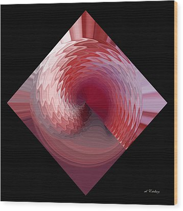 Wood Print featuring the digital art Curl I by rd Erickson