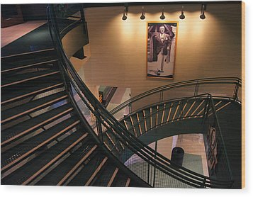 Curly's Stairway Wood Print by Bill Pevlor