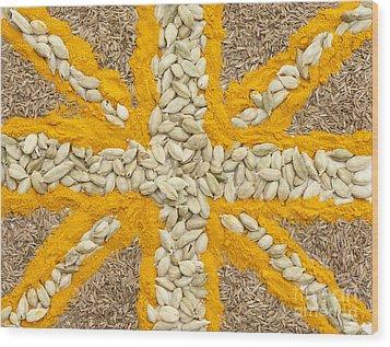 Curried Flag Wood Print by Anne Gilbert