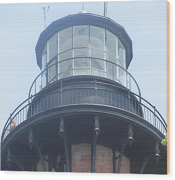 Wood Print featuring the photograph Currituck Beach Light by Cathy Lindsey