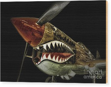 Curtiss P40 Warhawk  ... Wood Print by Chuck Caramella