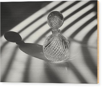 Curvatures 3...shadows Wood Print by Tom Druin