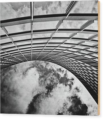 Curve Wood Print by Brian Carson