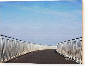 Curved Bridge Wood Print