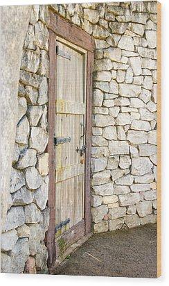 Curved Door Wood Print