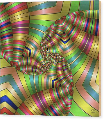 Wood Print featuring the digital art Curves Ahead by Manny Lorenzo